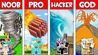 Minecraft NOOB vs PRO vs HACKER vs GOD: FAMILY APOCALYPSE in Minecraft Animation