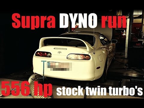 9a7e9e86bc83 556hp Supra Turbo DYNO stock twins BPU - YouTube