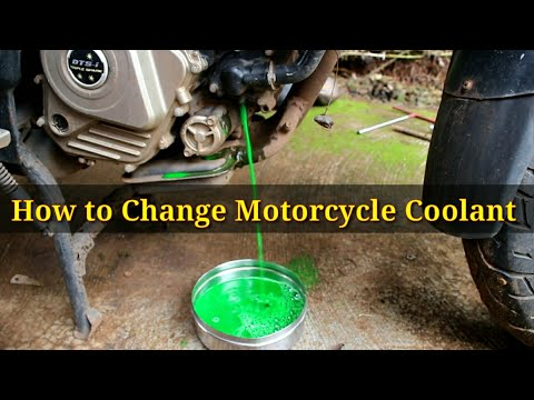 how to change coolant of bikes