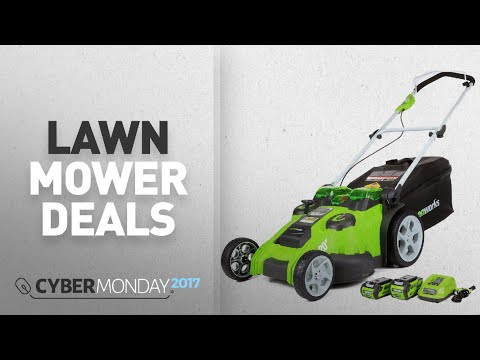 Top Cyber Monday Holiday Lawn Mower Deals: GreenWorks 25302 G-MAX 40V Twin Force 20-Inch Cordless