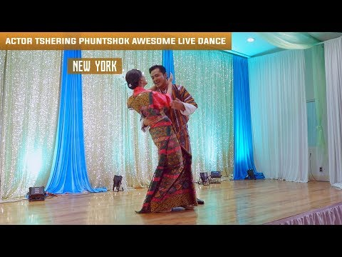 Actor Tshering Phuntshok awesome live dance performance in New York, 2017