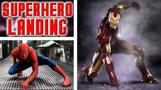 How To Do The SUPER HERO LANDING