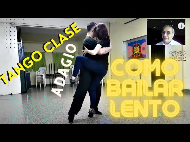 Como hacer el adagio en el baile social de tango CLASE CLASS. Antonela Mendez, Raul Moure.