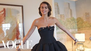 Kaia Gerber Gets Ready for the Met Gala | Vogue