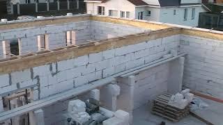 Армопояс на газобетоне. Как прогреть бетон на морозе.