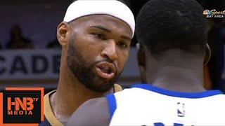 Draymond Green vs DeMarcus Cousins / Pelicans vs Warriors / 2017 NBA Season