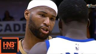 Draymond Green vs DeMarcus Cousins / Pelicans vs Warriors / 2017 NBA Season