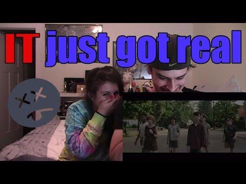 IT - Official Trailer 1   Couple's Reaction!