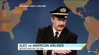 Alec Baldwin Mocks American Airline Incident on