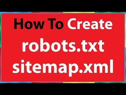 How to Create robots.txt file & sitemap file for seo