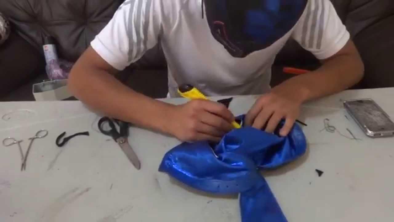 como se hace una mascara de luchador - youtube