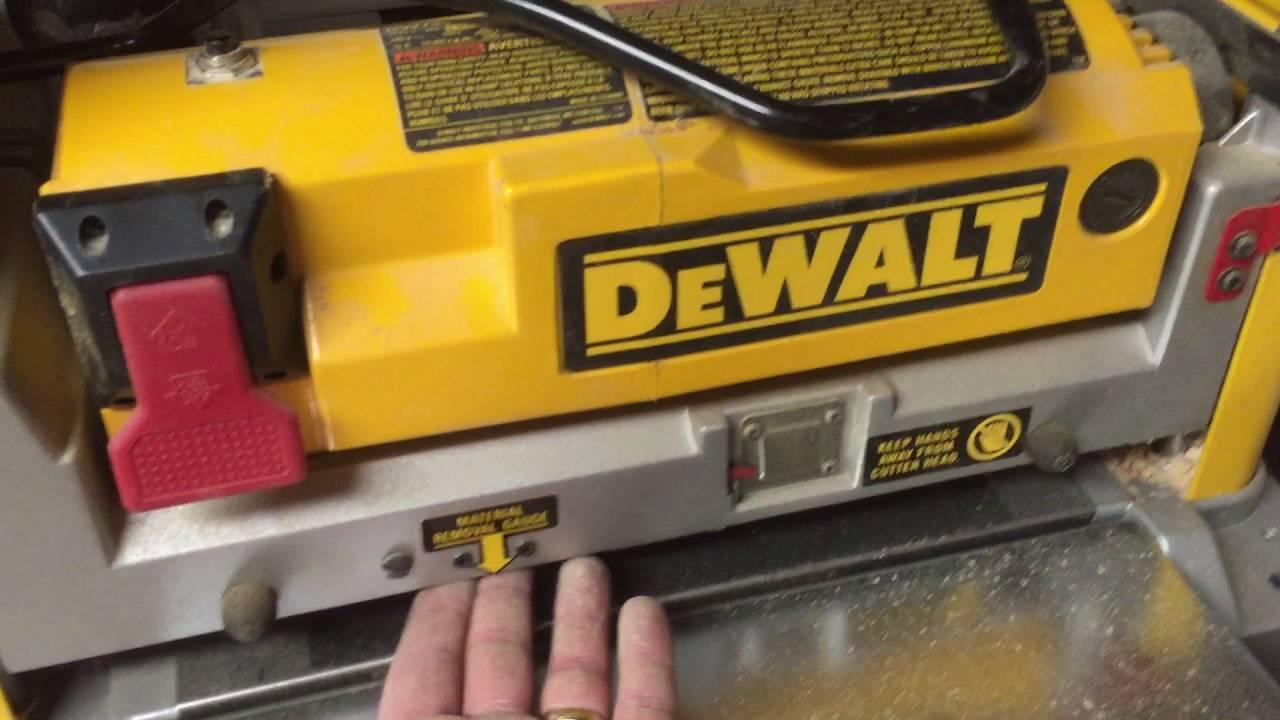 Dewalt planner DW734 12 1/2 inch  thickness planer