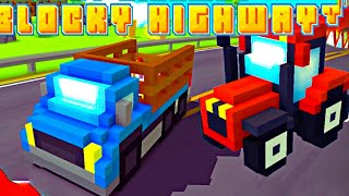 АВАРИИ МАШИНОК blocky highway. мобильные игры 2020 прохождение детских игр