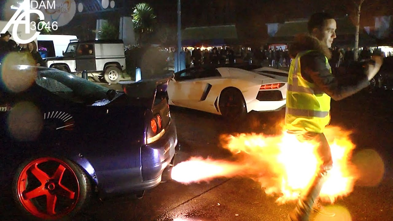 DON\'T stand behind a Modified Car! - YouTube