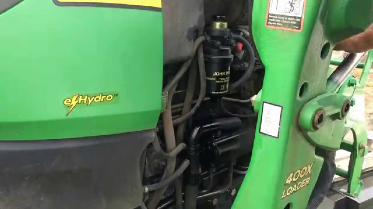 Bleeding Fuel System On A 4520 Jd Tractor Youtube Spin Filter Housing
