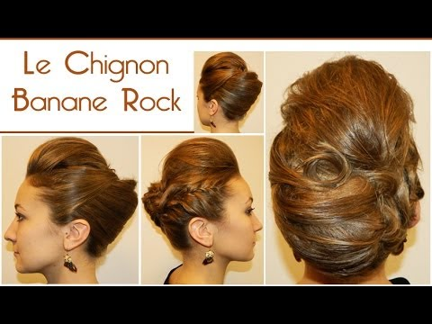 1 Le Chignon Banane Rock L A Hairstyle Inspiration Youtube