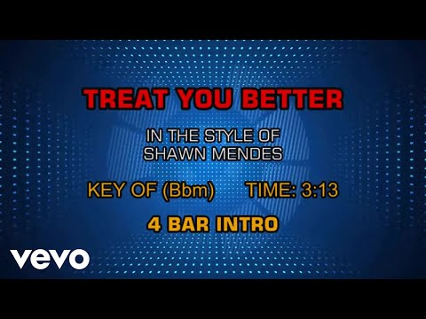 Shawn Mendes - Treat You Better (Karaoke)