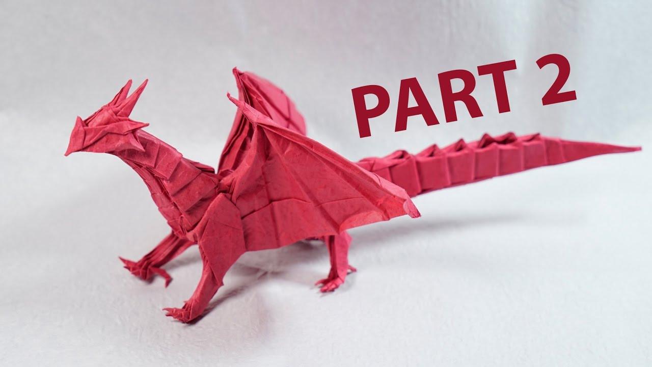 3d origami dragon part 2