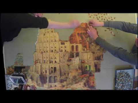 Satisfying Jigsaw Puzzle time lapse 9000 pieces