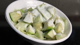 Crunchy green apple & cucumber salad