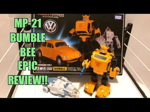 TRANSFORMERS INSIDER: BumbleBee MASTERPIECE MP-21 Takara Tomy Action Figur Toy Video Review