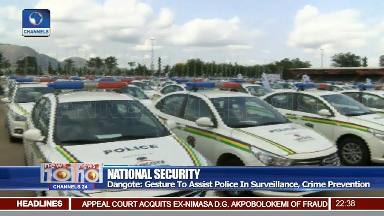 Dangote Foundation Donates 150 Cars To Nigeria Police Force