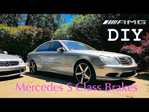 Mercedes S Class W220 Brake Pads & Rotor Replacement