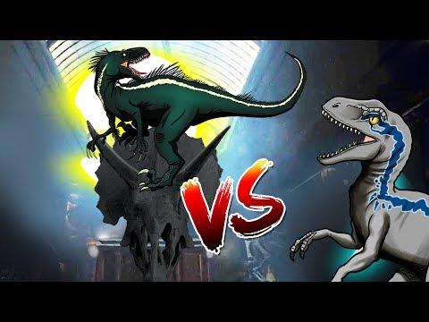 Dinosaurs Battle |  Indoraptor VS Blue