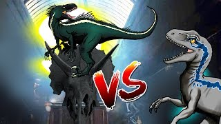 Dinosaurs Battle |  Indoraptor VS Blue