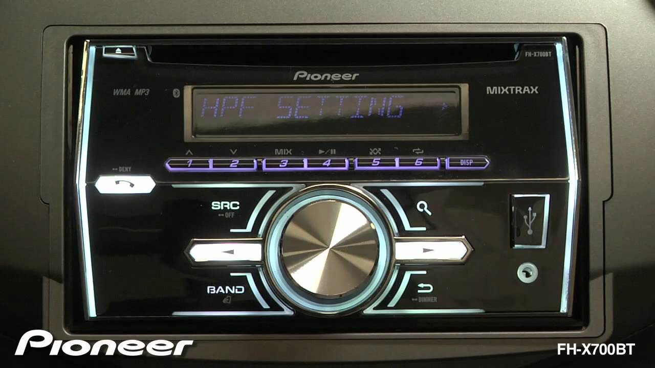 How To - FH-X700BT - Audio Settings - YouTube