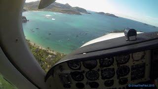 Landing at St Barths TFFJ (Pilots View) _ Left Pattern RWY 28 (Part 2)