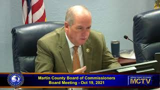 Martin County Board of County Commissioners  - Morning -  Oct 19, 2021