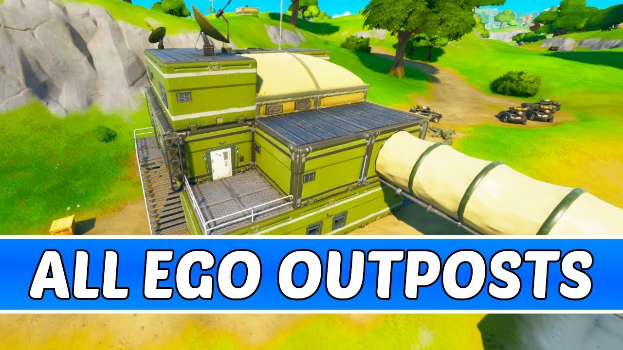 All E G O Outpost Locations Fortnite Chapter 2