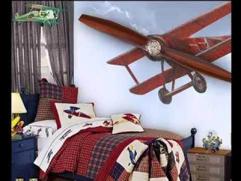 Airplane Bedroom Design Decorating Ideas