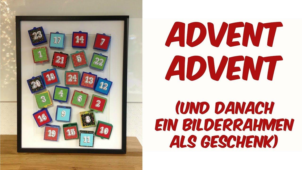 Adventskalender Bilderrahmen | auch nach Weihnachten noch ein tolles ...