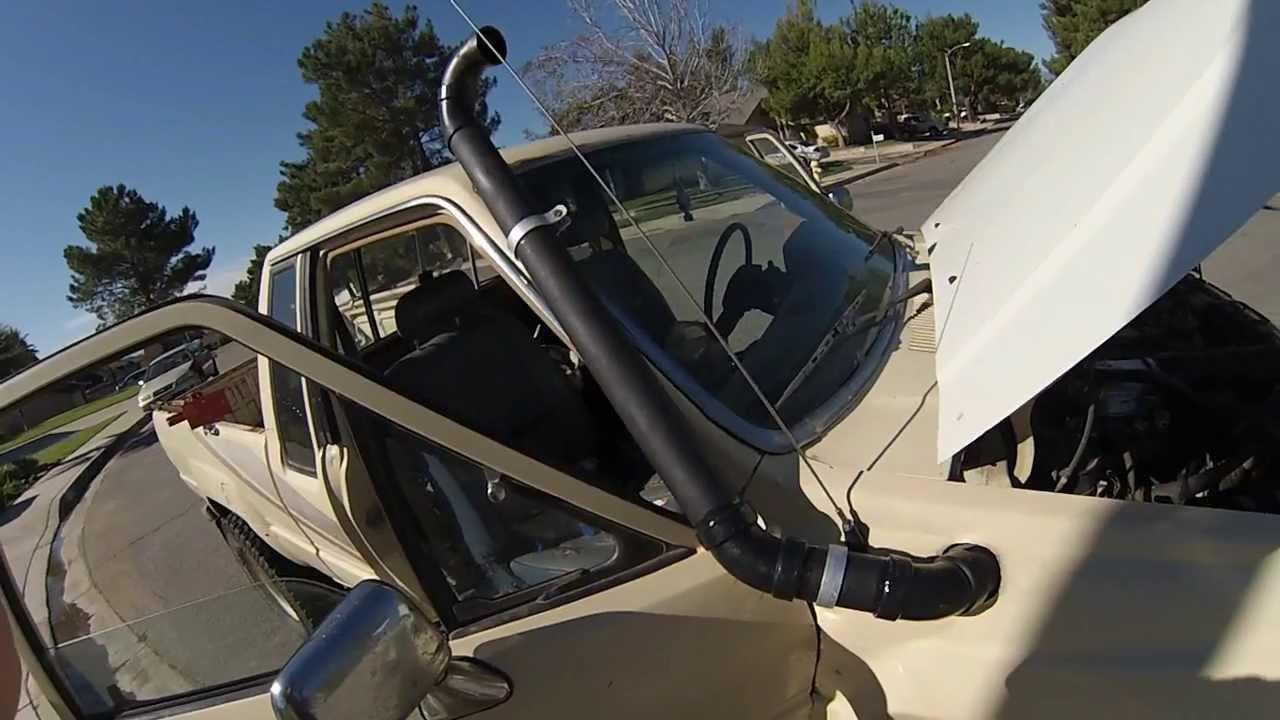 Toyota Pickup Weber carb snorkel project by Larry Holzhauser
