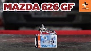 Vea una guía de video sobre cómo reemplazar MAZDA 626 V (GF) Kit de accesorios, pastillas de frenos