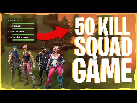 50 Kill WORLD RECORD Squad Win Gameplay on PC - Fortnite Battle Royale Record