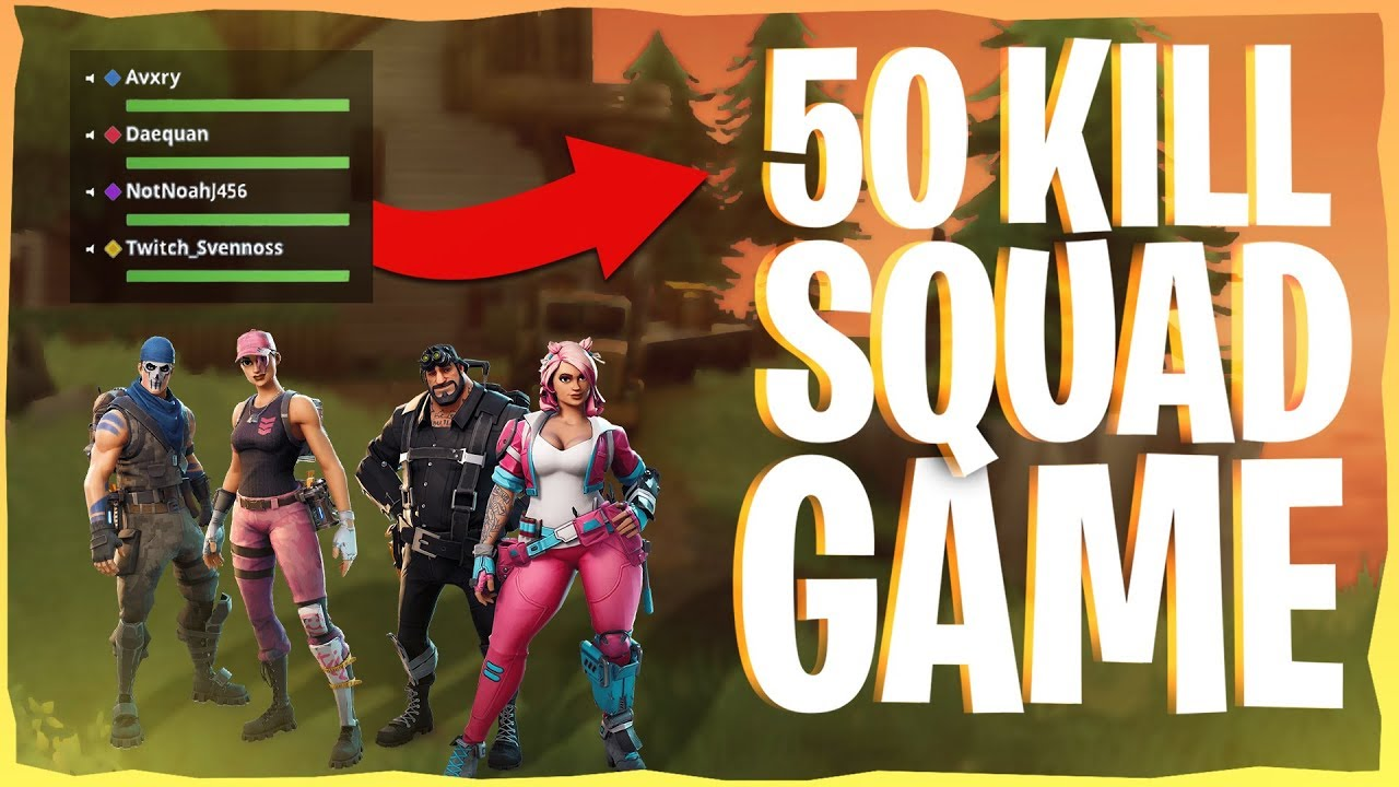 50 Kill WORLD RECORD Squad Win Gameplay on PC - Fortnite ...
