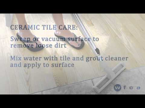 Ceramic Tile Flooring Care and Maintenance - YouTube