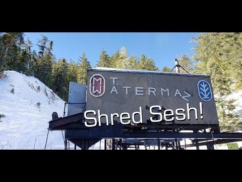Finally Shredding Mt. Waterman Again   Snowboarding Mount Waterman Angeles Crest