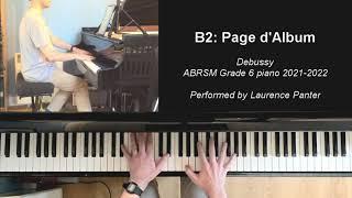 B:2 Page d'Album (ABRSM Grade 6 piano 2021-2022)
