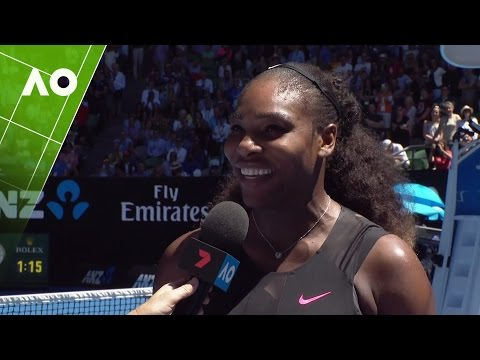 Serena Williams on court interview (QF) | Australian Open 2017