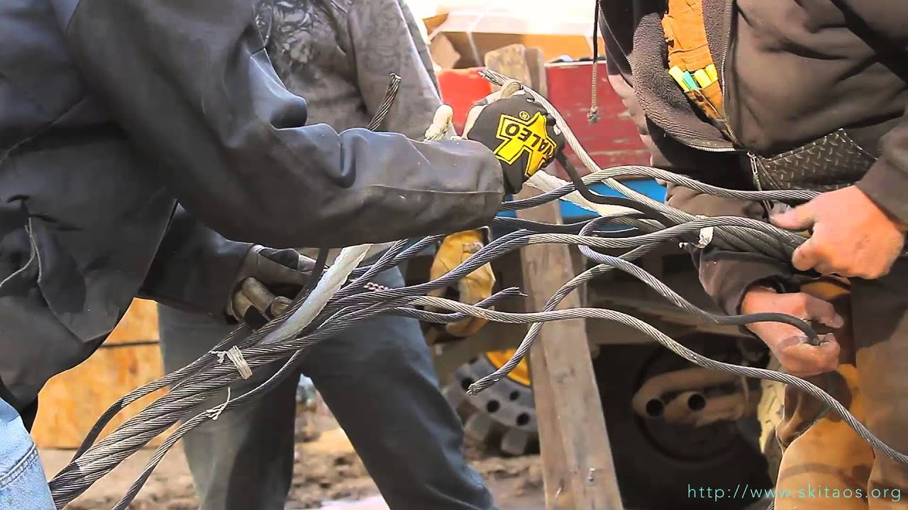 Kachina Peak Lift Haul Rope Splice Youtube