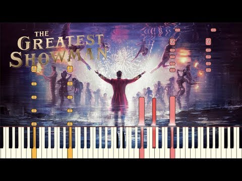 """The Greatest Showman - """"The Greatest Show"""" Piano Tutorial Synthesia"""