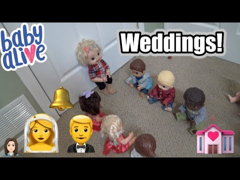 Baby Alive Boys Get Girlfriends: Weddings!  Kelli Maple