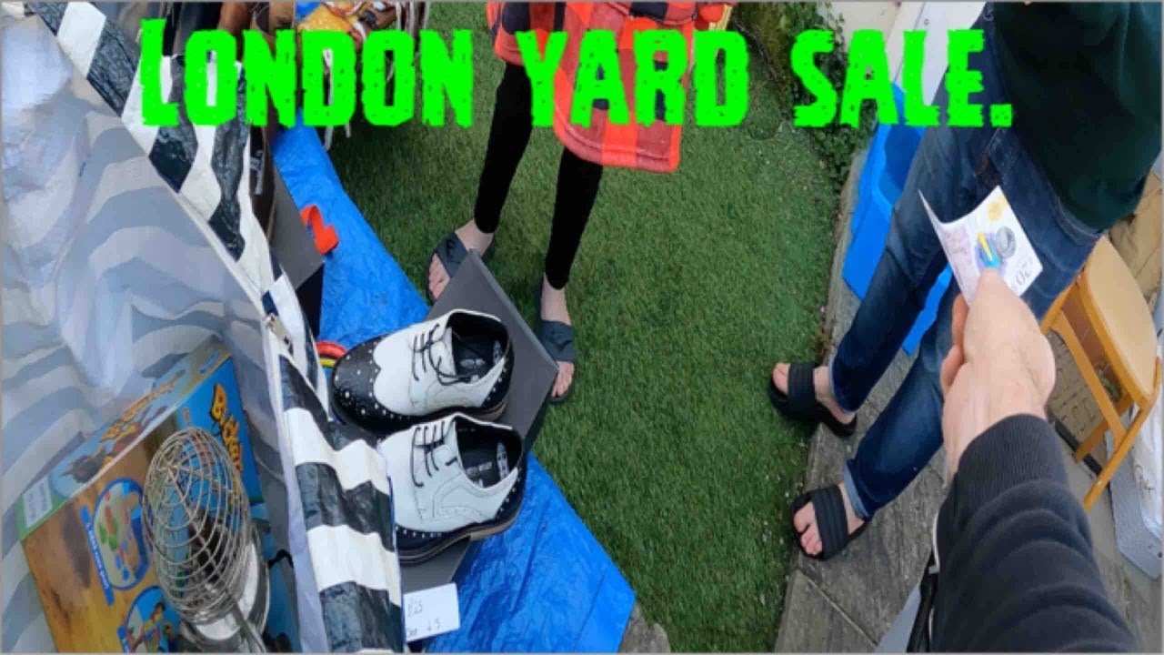 I Visited A Yard or Garage Sale in London and the Sun was Shining. UK Reseller