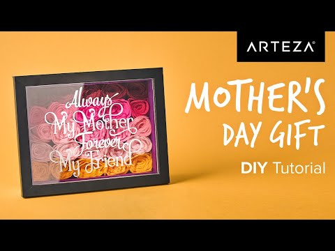 DIY Tutorial - How to Make a Mother's Day Shadow Box Gift   #Arteza