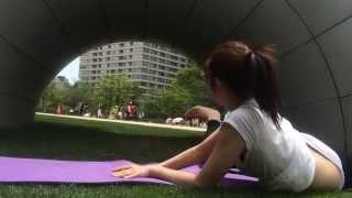 頭の中を柔軟に…ヨガマインド@Midtownパークヨガ 相楽のり子 動画 24