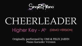 Cheerleader (Higher key - Piano karaoke demo) OMI & Felix Jaehn